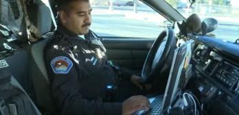 officer finds parents panhandling sick baby