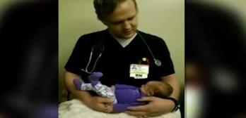 singing nurse soothes patients