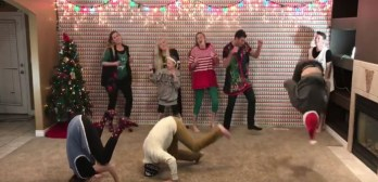 christmas dance 8 siblings Pentatonix