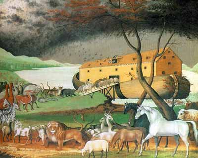 Image result for image of animals entering noah's ark