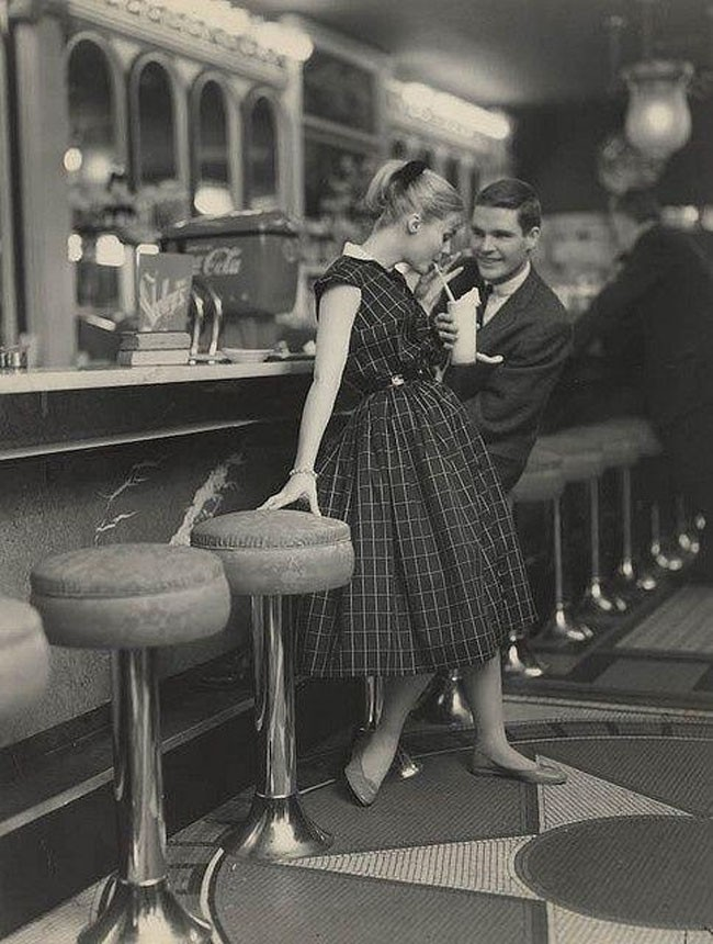 How they used to date in the 1950s.
