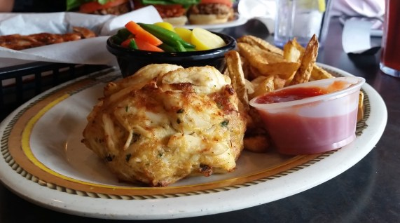 broiled crabcake from The Corner Stable