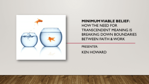 Minimum Viable Belief - Breaking Boundaries Between Faith and Work