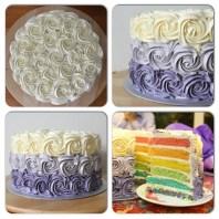'Lilac bouquet' Rainbow Cake