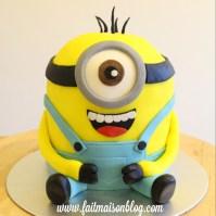 Custom 3D Minion Cake