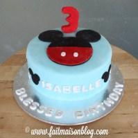 Custom-design Mickey Cake