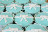 Custom-design 'Tiffany bow' Fondant Cupcake Toppers