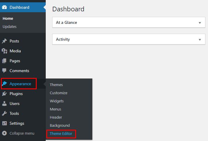 Theme Editor WordPress
