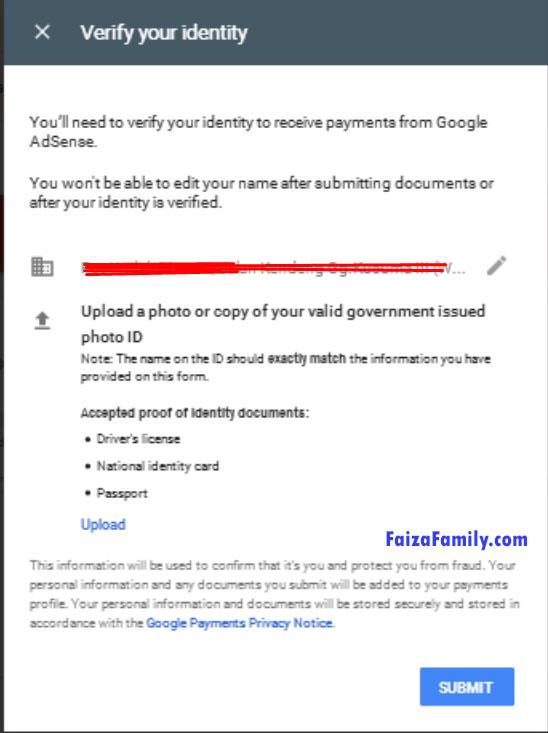 Verify Alamat Google Adsense