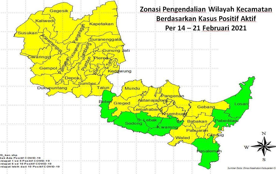Tujuh Kecamatan di Kabupaten Cirebon Berstatus Zona Hijau Covid-19 Mana Saja?