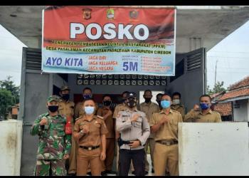 Desa Pasaleman Bangun Posko PPKM Penanganan Covid-19
