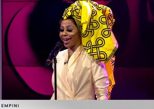 Kelly Khumalo Performs Empini on Channel O