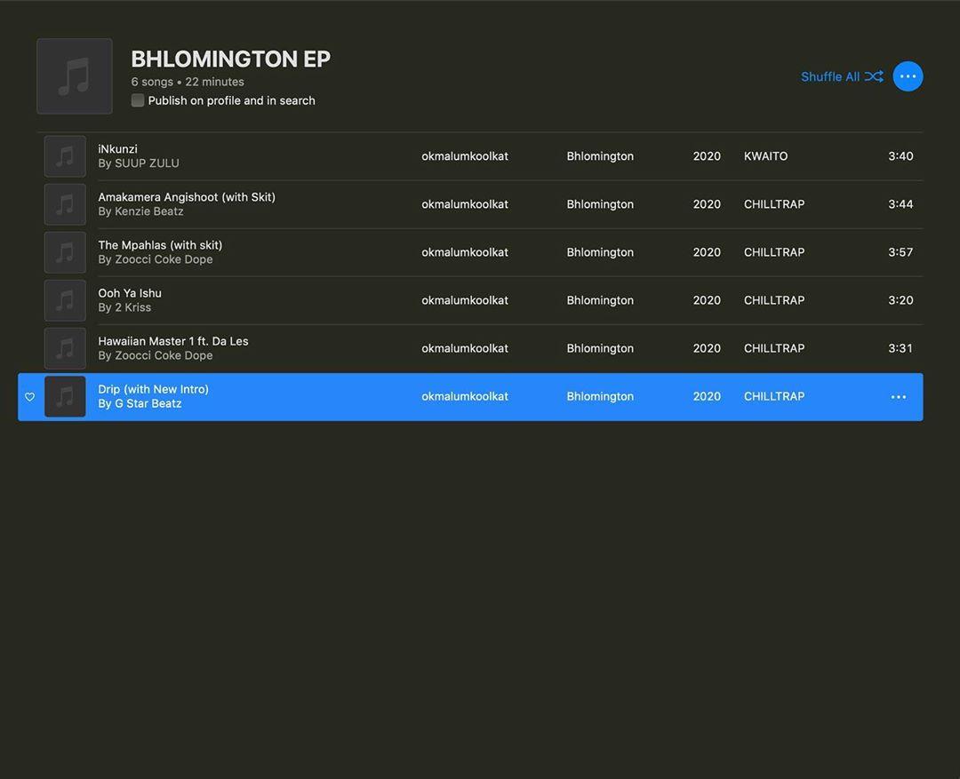 Okmalumkoolkat – Bhlomington (EP)