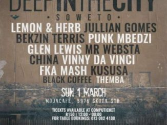 Black Coffee Live At Deep In The City Soweto Mp3 Download