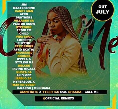 Giant Rats & Tyler icu Call Me (Remix Package) Fakaza Music Mp3 Download