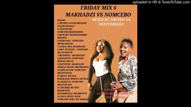 Thendo SA Fridays Mix 6 Makhadzi Vs Nomcebo Queen Vs Queen Part 01 Mp3 Fakaza Music Download