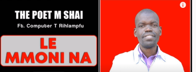 The Poet M Shai Le Mmoni Na Ft. Computer T Rihlampfu Mp3 Fakaza Music Download