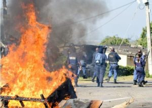 Protesters in Western Cape