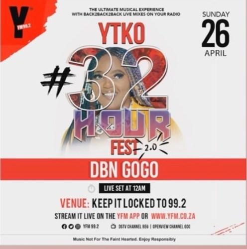 DBN Gogo #YTKO32HourFest Mix Mp3 Download