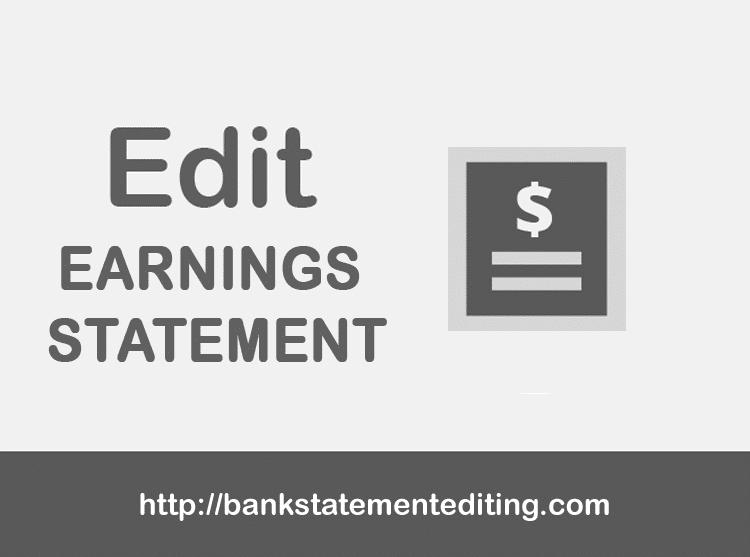 Fake Earnings Statement