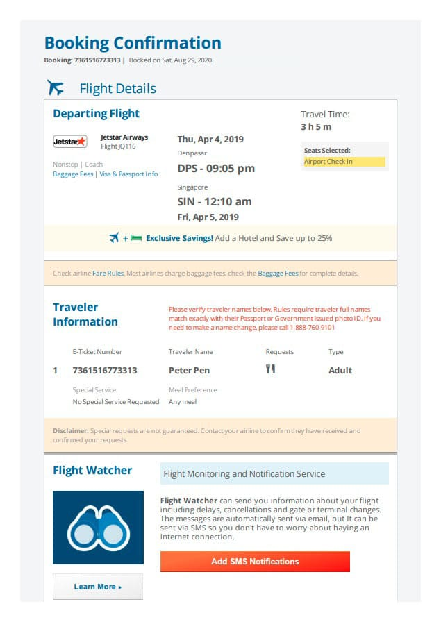 Making Fake Boarding Passes as Gifts with Plane Ticket