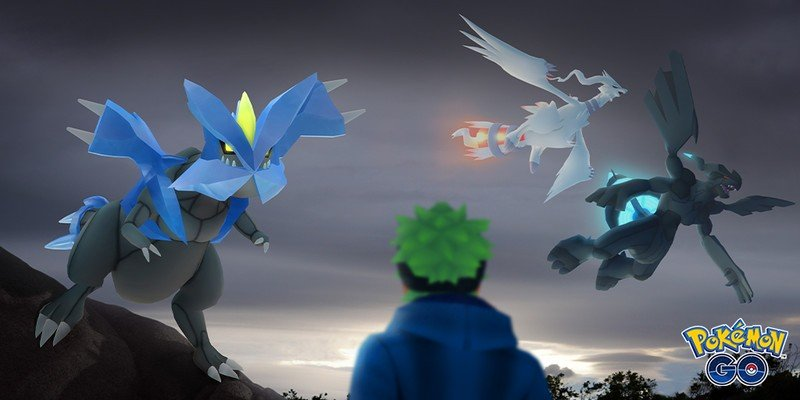 Reshiram, Zekrom, and Kyurem are coming to five star raids in Pokémon Go