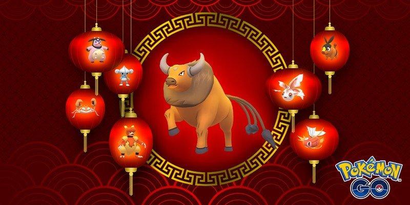 Pokémon Go celebrates the Lunar New Year with Tauros and Red Pokémon