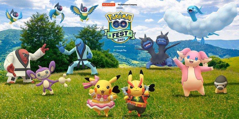 Pokemon Go Fest 2021 Pikachus