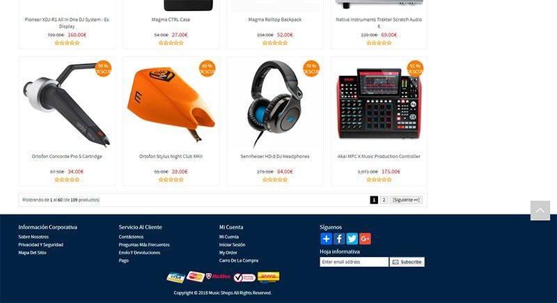 ctouw.com tienda online falsa equipamiento de dj