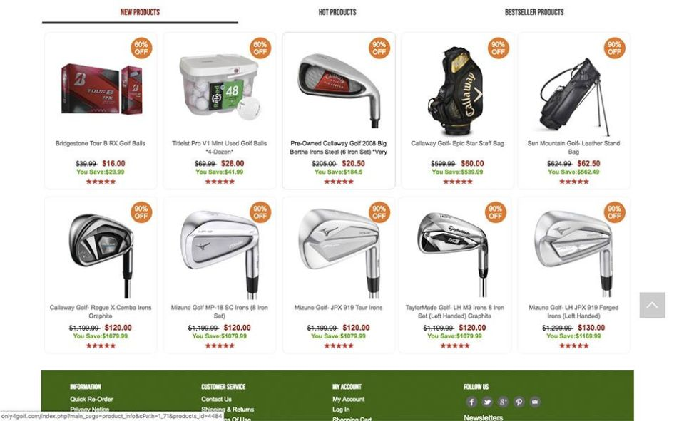products - only4golf.com Fake Ecommerce