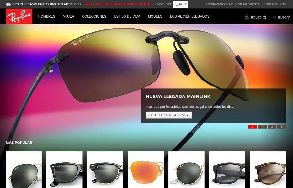 Captura de rbaef.com - Tienda online falsa