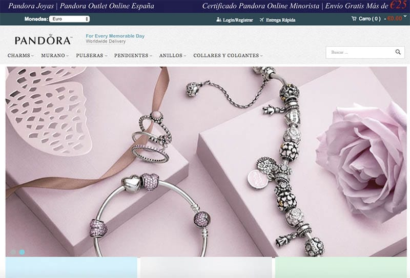 Joyases.com Fake Online Shop Pandora Home