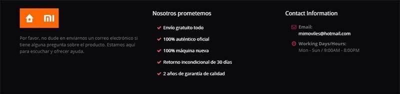 Mimoviles.com Tienda Falsa Online Datos