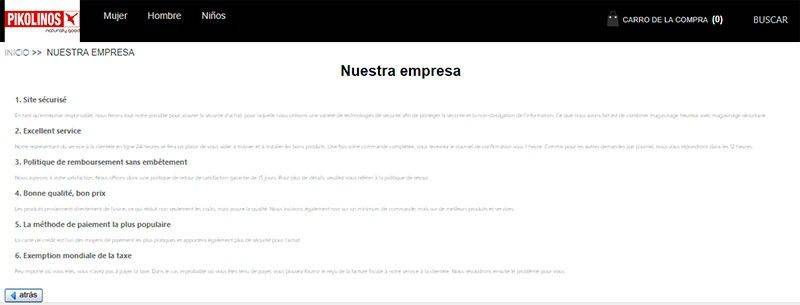 Pikolinosezapato.online Tienda Falsa Online Zapatos Datos