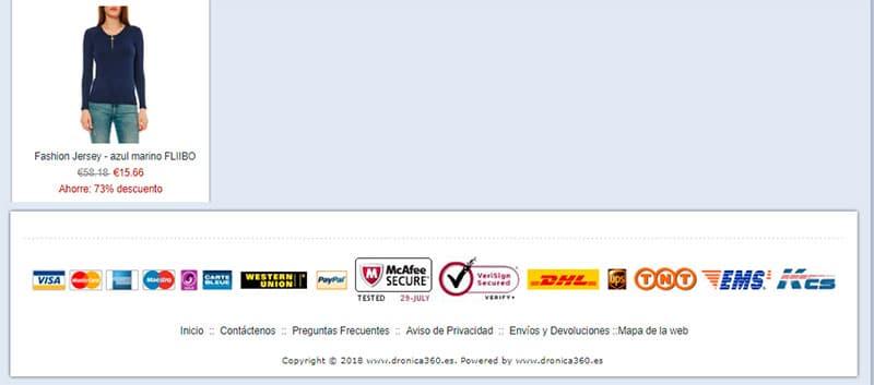 Dronica360.es Fake Online Shop Clothing