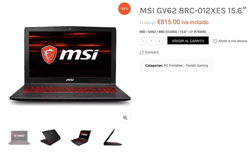 Justteck.com Fake Electronic Online Shop Msi