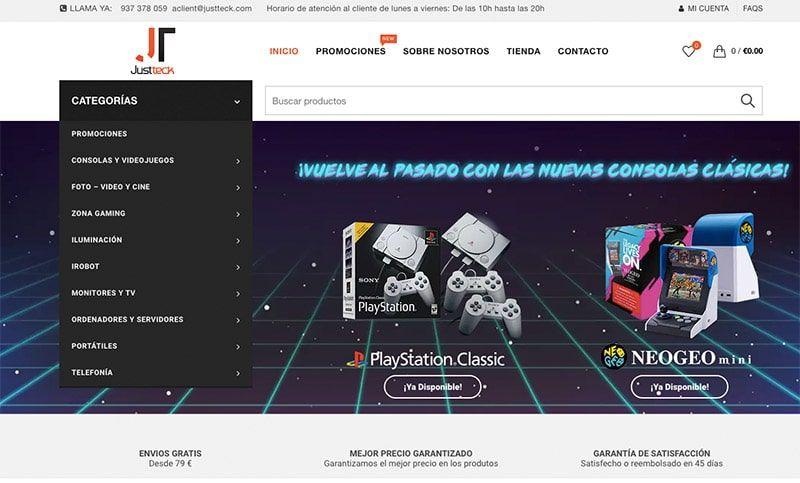 Justteck.com Fake Electronic Online Shop