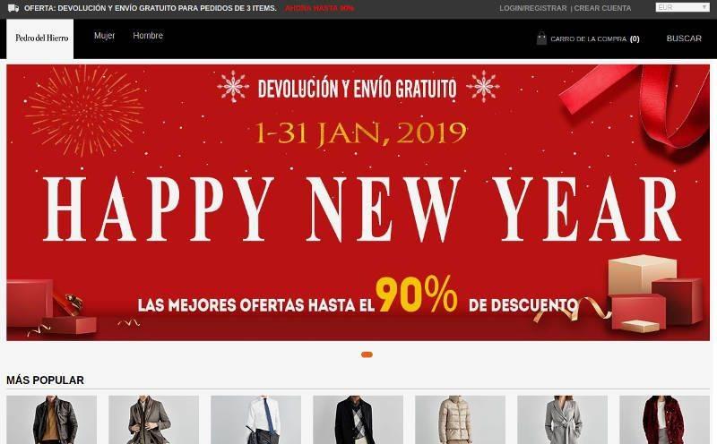 Pedrodelhetienda.shop Tienda Online Falsa Pedro Del Hierro