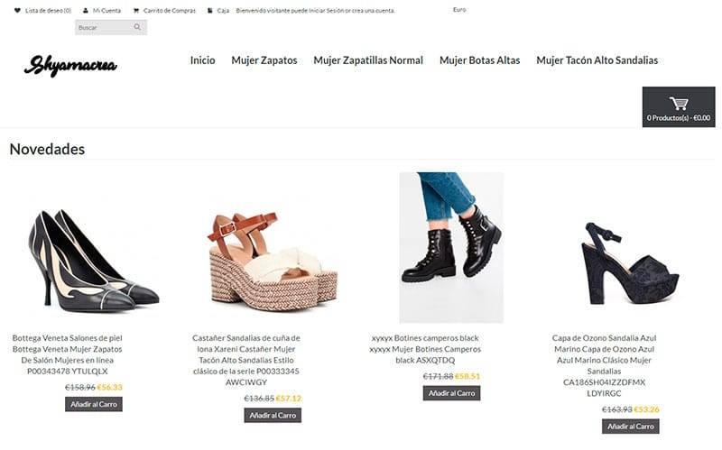 Shyamacreations.com Tienda Falsa Online Zapatos Zapatillas