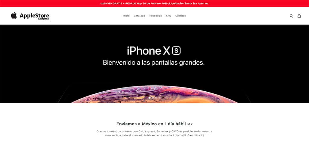 Californiapremiumrs.com Tienda Falsa Online Apple