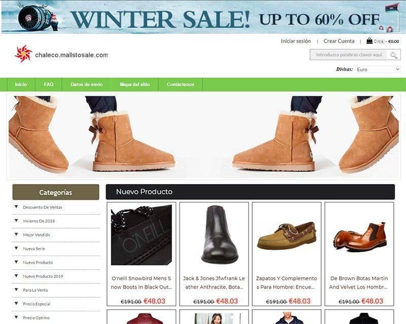 Chaleco.mallstosale.com Tienda Falsa Online Calzado
