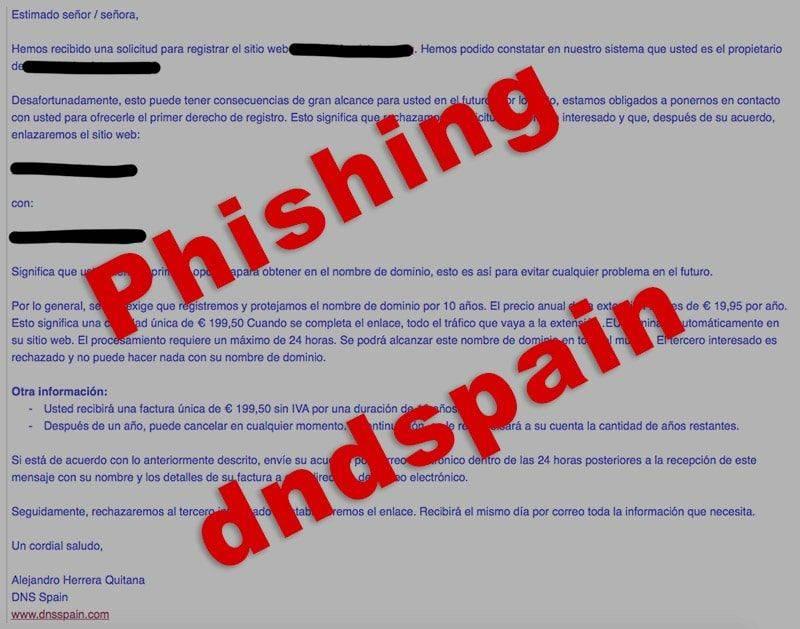 Email Phishing Dnsspain