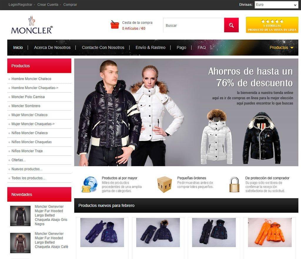 Es.moncleritalien.com Tienda Falsa Moncler