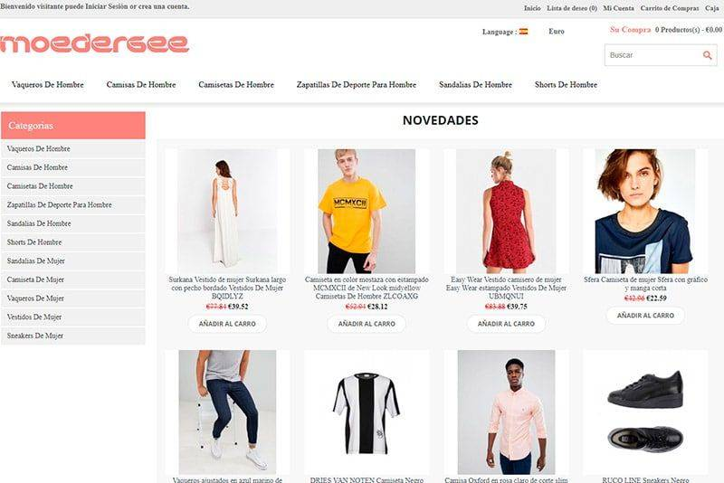 Moedergeelse.org Tienda Falsa Online Moda Fashion