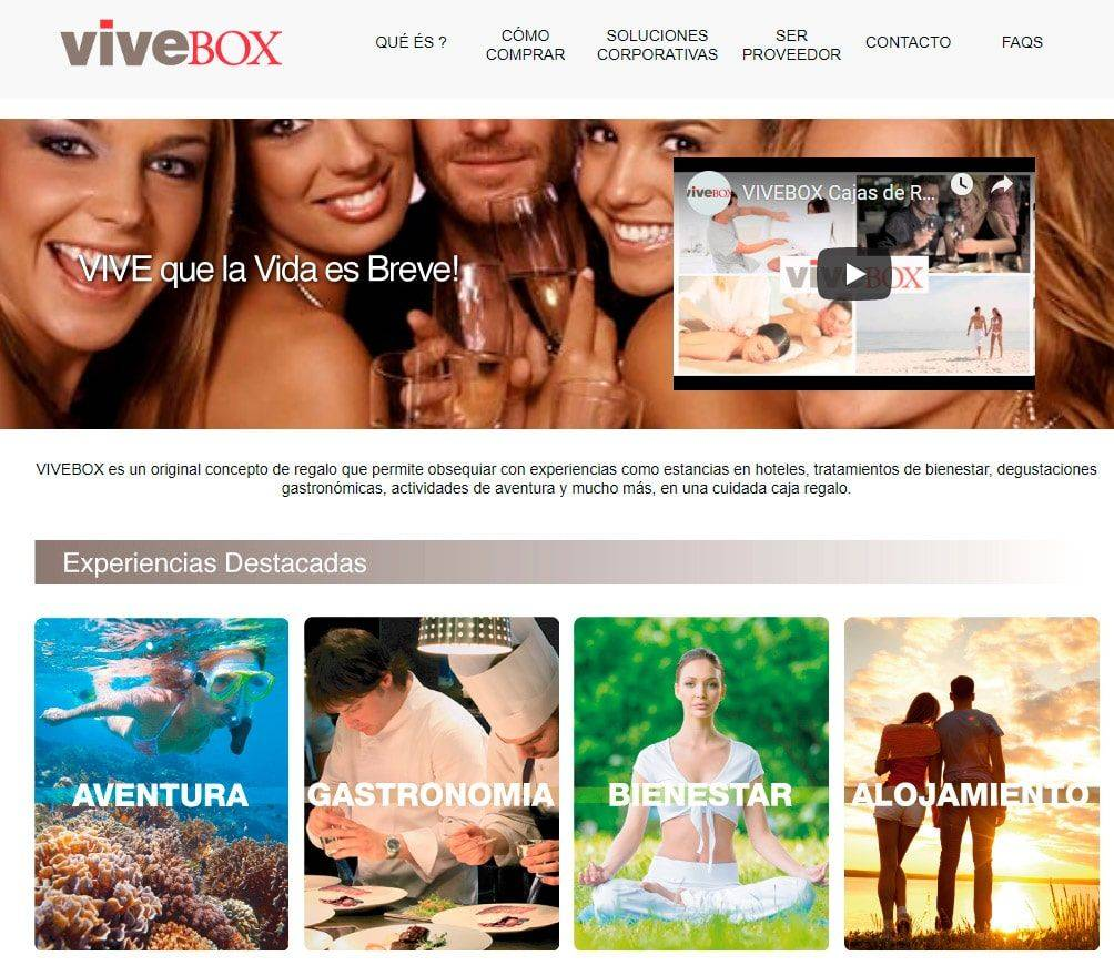Vivebox.net Web Experiencias Estafa