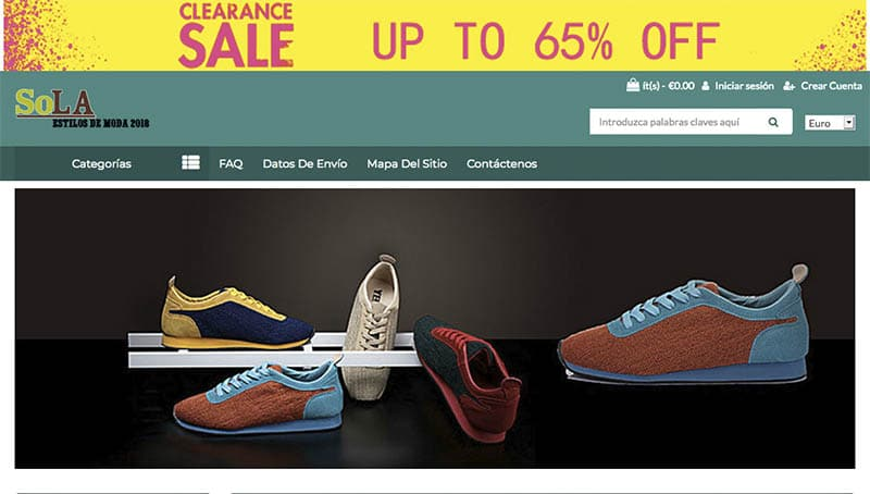 Contsola.com Fake Onlin Shop For Sneakers