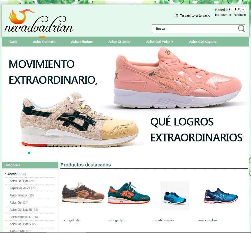 Deslumbrante foso Floración  nevadoadrian.es online fake shop Asics - Fakes, Scams and frauds of Internet