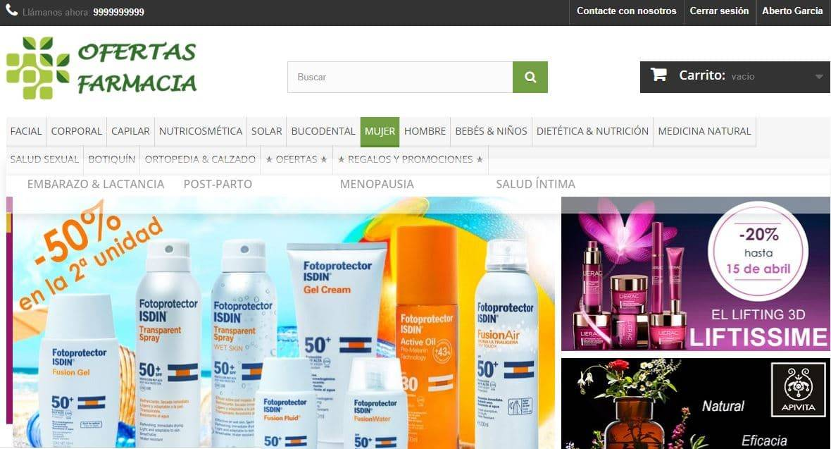 Ofertasfarmacias.es Farmacia Online Falsa