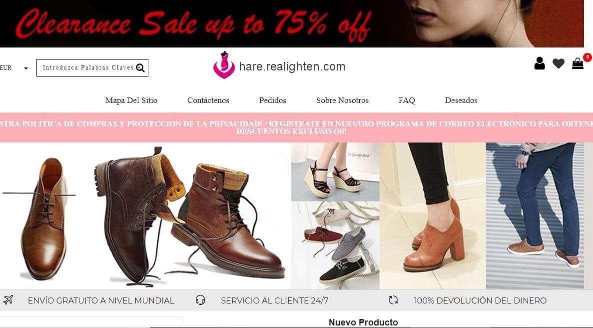 Hare.colorvshop.com Tienda Falsa Online Zapatos