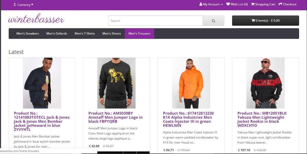 Winterbassseries.com Tienda Falsa Online Moda